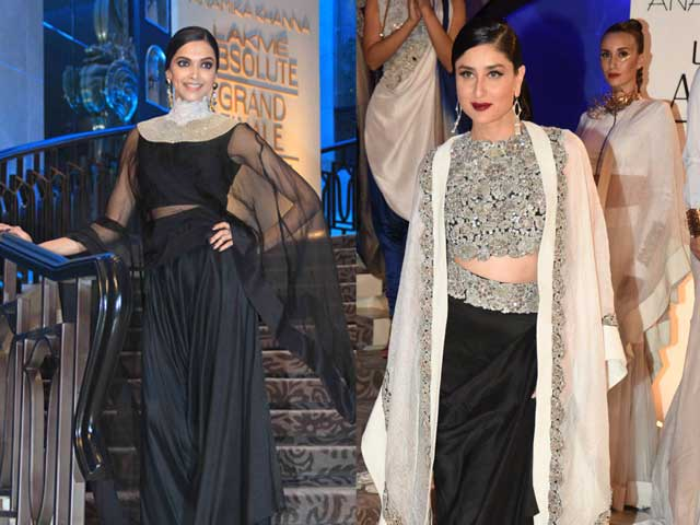 Deepika, Kareena Close Anamika Khanna's Show at Lakme Fashion Week