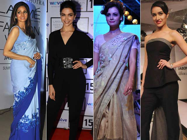 Sridevi and Deepika Off the Ramp; Dia and Shraddha on it