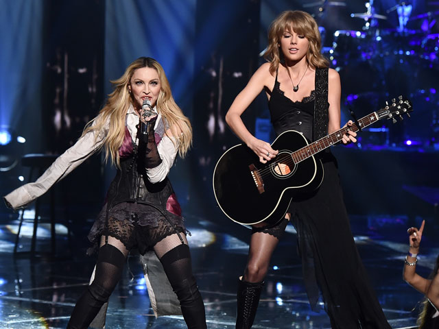 Taylor Swift Performs with Madonna at iHeartRadio Awards