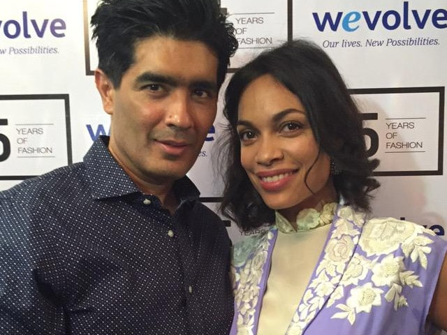 Sin City's Rosario Dawson Makes Manish Malhotra's Show More Than Just Fashion