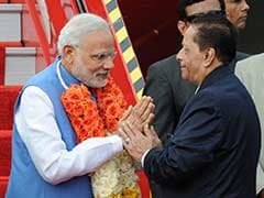 Prime Minister Narendra Modi Arrives in Mauritius