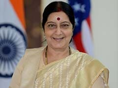 External Affairs Minister Sushma Swaraj Arrives in Indonesia For Asian-African Conference
