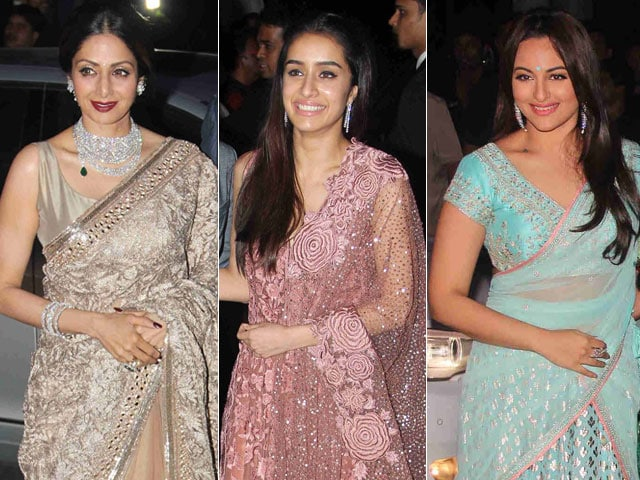 Sridevi, Sonakshi and Shraddha Dazzle at Tulsi Kumar's Reception