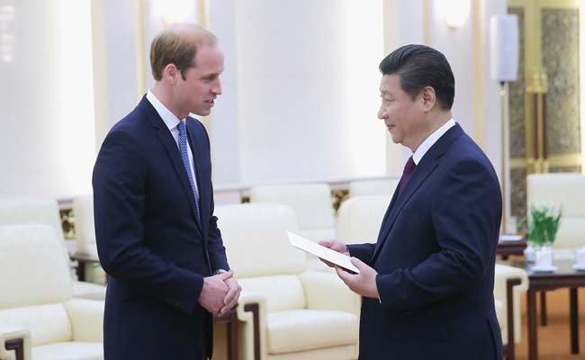 China Welcomes Britain's Prince William
