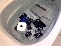 Angry Woman Drowns Boyfriend's Apple Gadgets