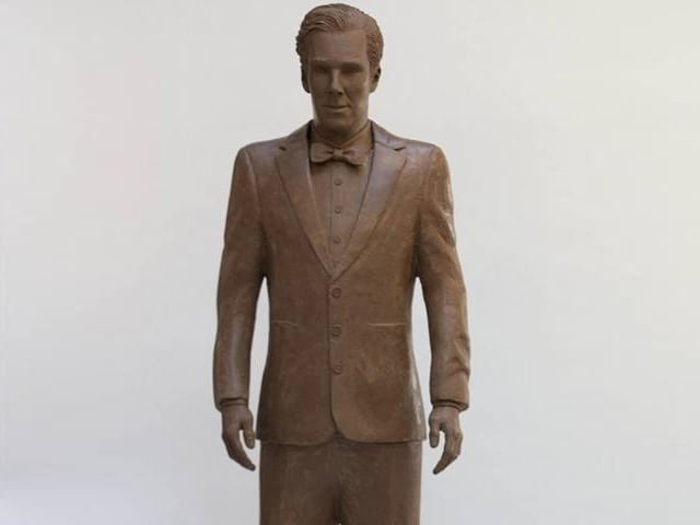 Benedict Cumberbatch Gets Life-Sized Chocolate Statue