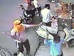 Caught on Camera: Armed Men on Bikes Vandalise Hotel in Ujjain, Fire in Air
