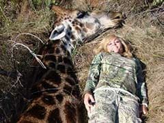 Female Hunter Faces Charge of the Twitter Brigade Over Photo With Dead Giraffe
