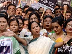 West Bengal Chief Minister Mamata Banerjee Protests Against Land Ordinance