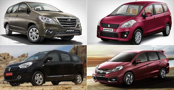 Toyota Innova vs Renault Lodgy vs Maruti Suzuki Ertiga vs Honda Mobilio: Specifications Comparison