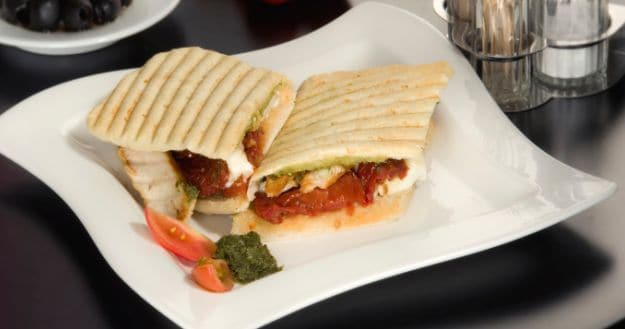 Panini with leftover chicken