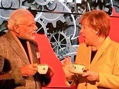 पीएम मोदी ने जर्मन चांसलर मर्केल संग की 'चाय पे चर्चा' और किया 'मेक इन इंडिया' का आह्वान