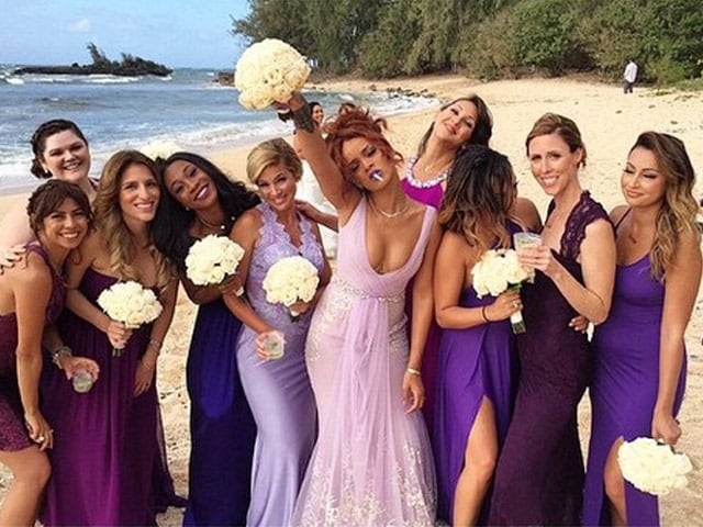 Rihanna is Celebrity Bridesmaid For Assistant's Hawaiian Wedding