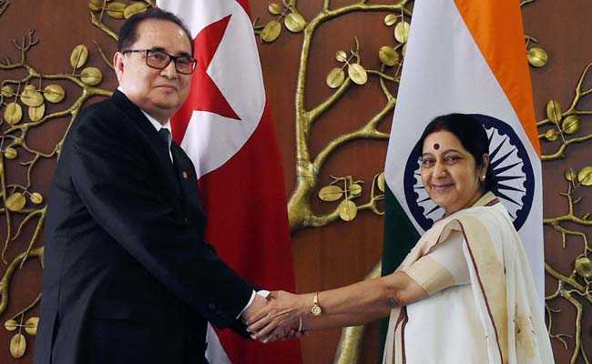 External Affairs Minister Sushma Swaraj Conveys Security Concerns to North Korea