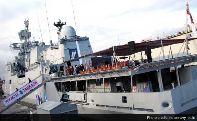 INS Tarkash Returns to Mumbai After Evacuating People From Yemen