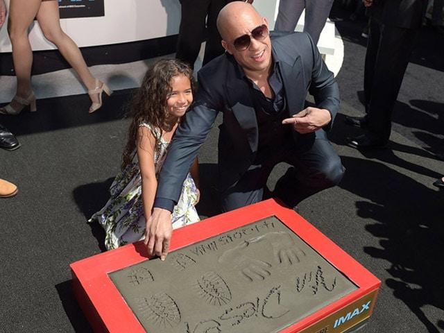 Furious 7 Star Vin Diesel Honoured at Hollywood Boulevard