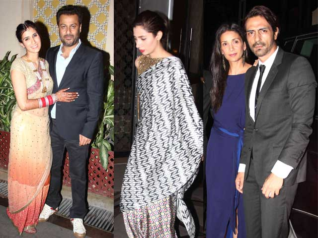 At Abhishek Kapoor's After-Wedding Party: Mahira Khan, the Rampals