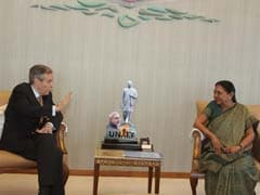 Gujarat Chief Minister Anandiben Patel Discusses Skill Development With German Envoy Michael Steiner