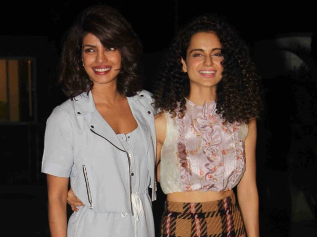 Kangana, Priyanka Queen it at Party With Filmy Friends