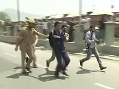 Protesting Government Employees Clash With Police in Srinagar