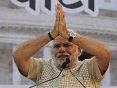 नरेंद्र मोदी मथुरा में, कुछ ही देर में जनकल्याण रैली को करेंगे संबोधित