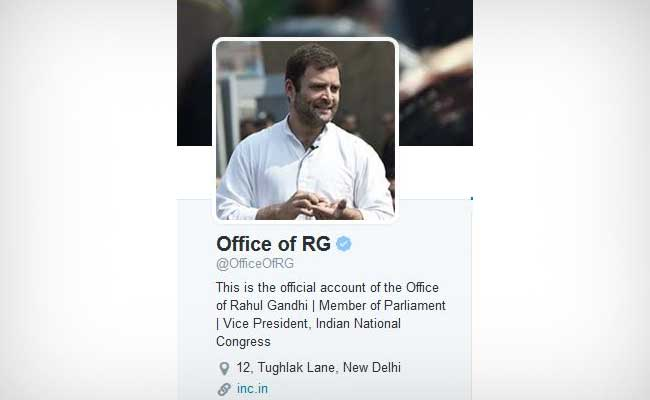 Rahul Gandhi on Twitter, Following 3 Accounts, All Congress