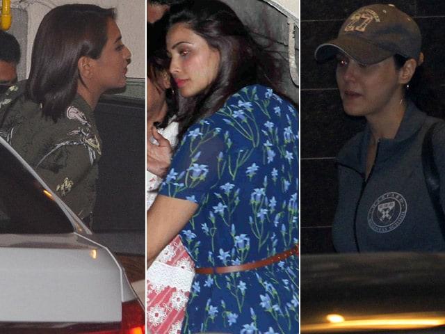 Sonakshi, Daisy, Preity Join the Khans at Salman's Homecoming