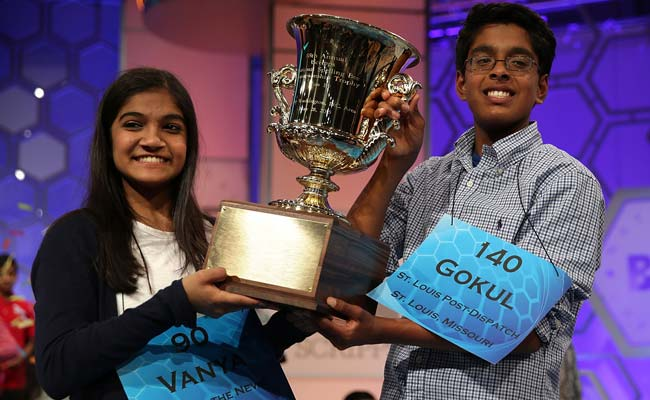 Vanya and Gokul are Co-Winners of Spelling Bee. It Was 10-Round Showdown