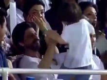 Two to Tango: Shah Rukh Khan and AbRam Get Jiggy at KKR Match