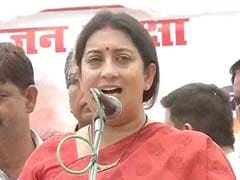 Congress Conspiring To 'Divide India', Says Smriti Irani