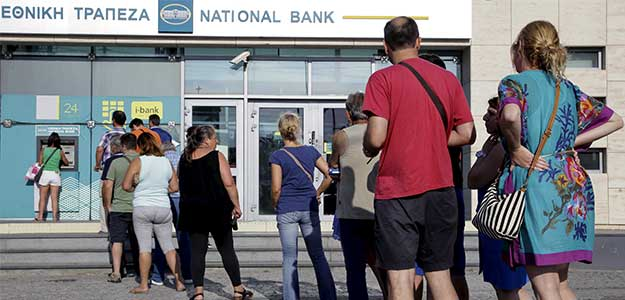 Greece Shuts Banks, Limits Daily ATM Withdrawal to 60 Euros