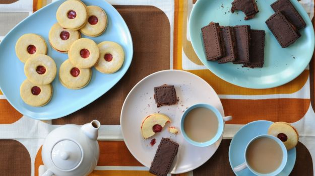 Take the Biscuit: Jammie Dodger and Bourbon Cream Recipes   Ruby Bakes