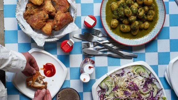Coconut-Fried Chicken Recipe for a Group Supper   Feasting