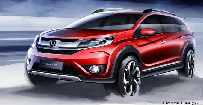 honda br v compact suv to debut in august sketches
