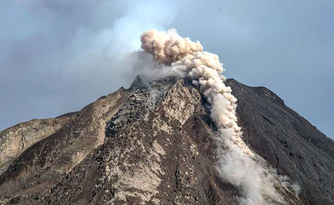 Precarious Existence in Shadow of Indonesian Volcano