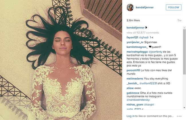 Revealed Why Kendall Jenner S Photo Is The Most Liked In Instagram