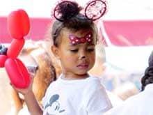 Kim Kardashian, Kanye West Celebrate North's Birthday in Disneyland