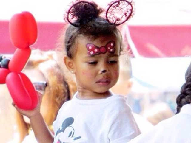 Kim Kardashian, Kanye West Celebrate North's Birthday in Disneyland