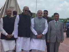 PM Narendra Modi Visits Dhaka's National Martyrs' Memorial