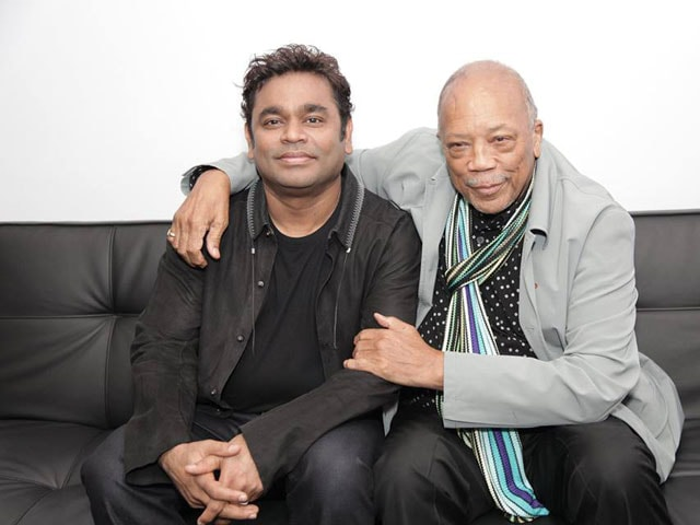 A R Rahman Meets Iconic Record Producer Quincy Jones