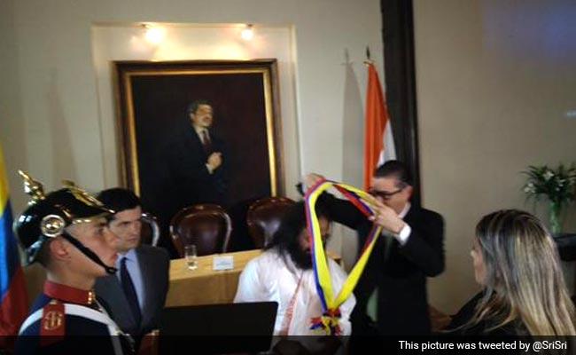 Spiritual Leader Sri Sri Ravi Shankar Conferred With Colombia's Highest Civilian Award