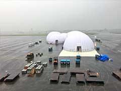 Solar Impulse 2 Gets Inside Mobile Hangar in Japan