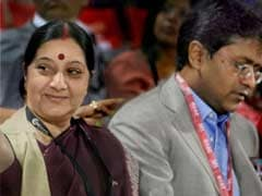'No Individual Meeting with Lalit Modi, Sushma Swaraj Met Him at Private Dinner for 15 in London': Sources
