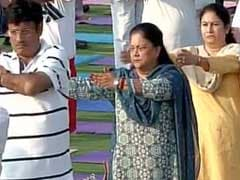 Vasundhara Raje Makes First Public Appearance in a Week on Yoga Day