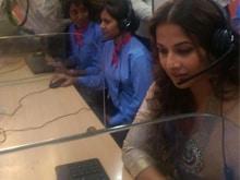 Vidya Balan Visits Helpline Centre For Women in Uttar Pradesh