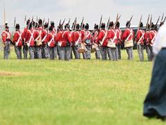 Army of History Buffs Re-Enact Waterloo