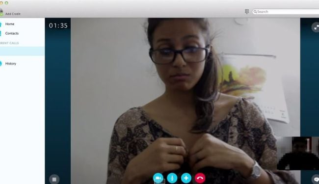 chatting with webcams