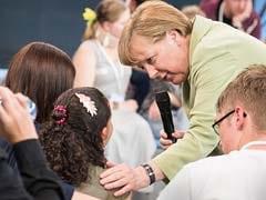 Angela Merkel Mocked Online Over Refugee Girl's Tears