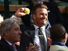 The Incredible Moment David Beckham Made a Brilliant Catch at Wimbledon