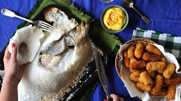 A Sicilian Feast with Salt-Crusted Seabass | Feasting